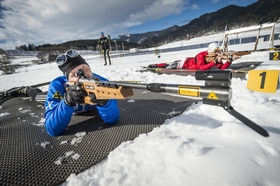 Mit rot-weiß-roten Biathlon-Helden in der Spur am Red Bull Ring
